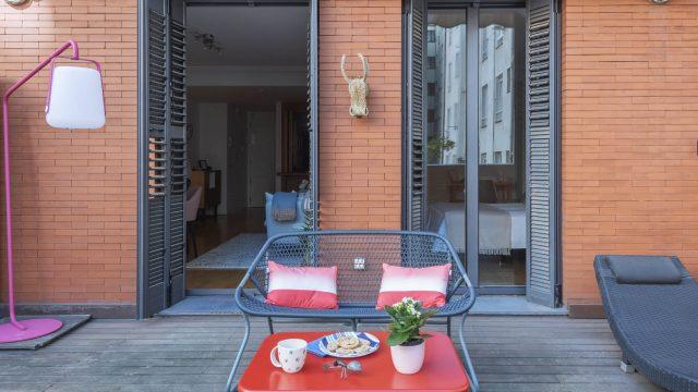 Apartamento con terraza en la Milla de Oro de Madrid